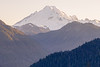 Whatcom, Yellow Aster Butte - Layers of hillsides and Mt. Baker with strong side light