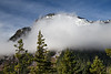 North Cascades, Ross Lake - Snowy mountain in the fog