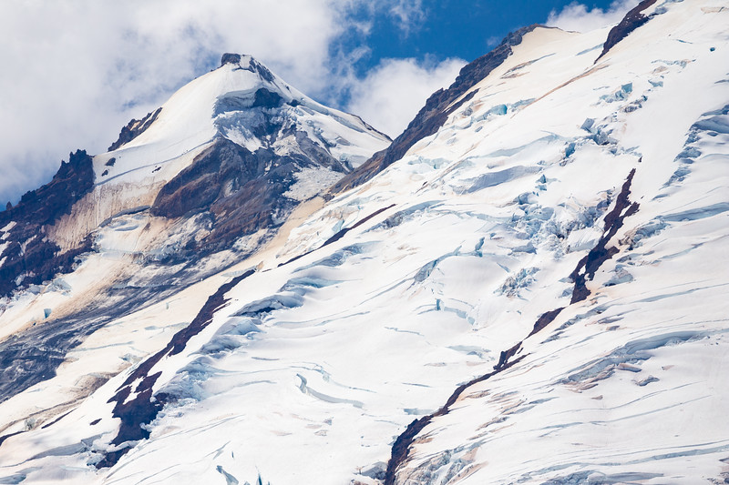 Whatcom, Artist Point - Detail study of glaciers on Mt. Baker, color