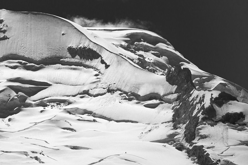 Whatcom, Artist Point - Close up of Baker summit in black and white