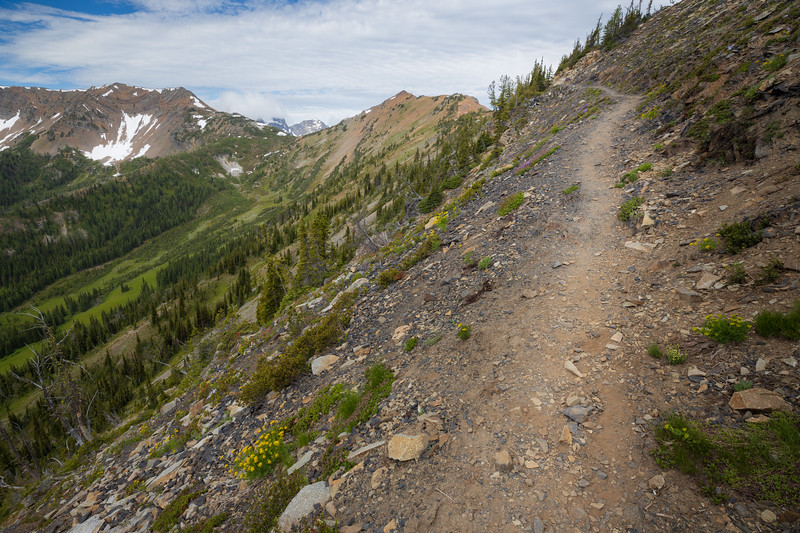 Harts Pass, Tatie Peak - Trail entering the head of the basin