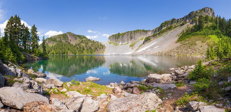 Whatcom, Artist Point - Panorama of Iceberg Lake