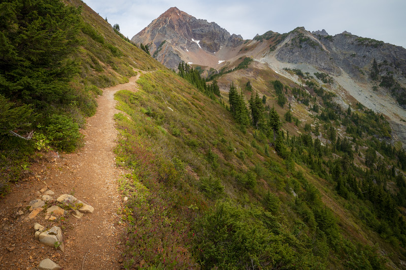Whatcom, Winchester Mountain - Trail approaching High Pass