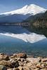 Whatcom, Baker Lake - Mt. Baker reflected in a calm Baker Lake