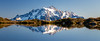 Whatcom, Yellow Aster Butte - Mt. Shuksan reflected in small tarn, panoramic