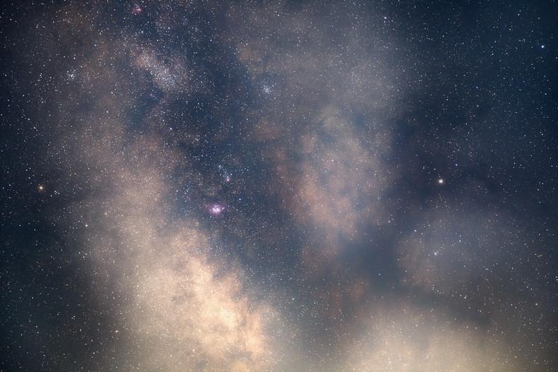 Whatcom, Artist Point - Horizontal tracked Milky Way core, 85mm, dark horse