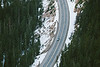 Washington Pass, Overlook - View of road with car from above