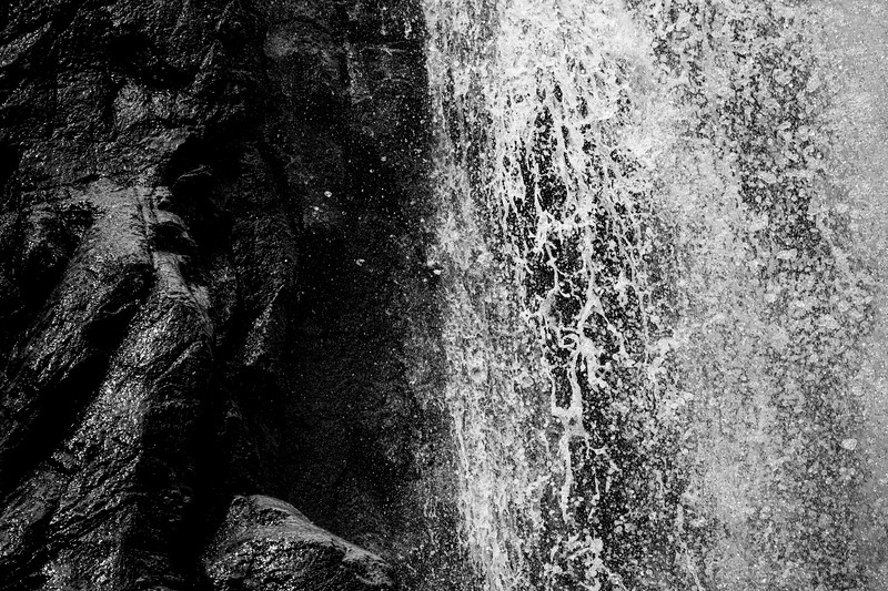 Methow, Falls Creek Falls - High speed close up of edge of upper falls