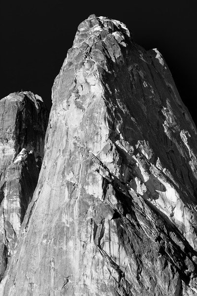 Washington Pass, Overlook - Liberty Bell at sunrise in Black and White