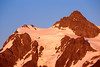 Whatcom, Artist Point - Mt. Shuksan at sunset with alpenglow and clear sky
