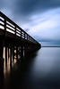 Whidbey, Deception Pass - Long dock perspective into the sea in long exposure, tall