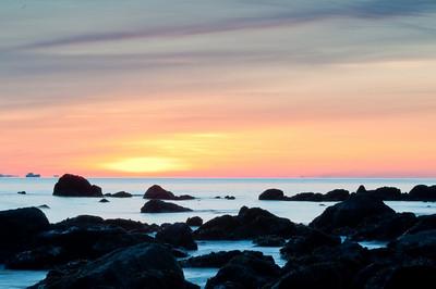 Sunrise, Washigton north coast