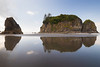Kalaloch, Ruby Beach - Abbey Island and reflection in bright sun