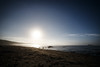 Olympic NP, Ozette Coast - Sand Point beach under a full moon