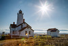 Sequim, Dungeness Spit - Lighthouse and sunstar