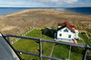 Sequim, Dungeness Spit - View of the end of the spit from the top of the lighthouse