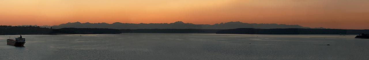 Olympic sunset 12x72 Panorama