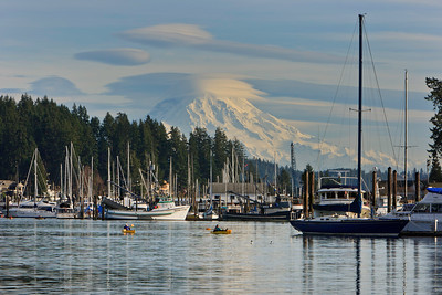 View of Mount Rainier from Gig Harbor