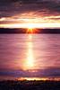 Mukilteo, Beach - Last moment of sunset on colorful beach