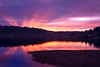 Redmond, Idylwood - Colorful sunrise over the lake