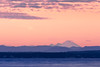 Mukilteo, Beach - Mt. Baker with a colorful sky at sunset