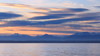 Seattle, Carkeek - Colorful sunset over the Olympics