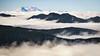 Rainier, Tolmie - Mt. St. Helens above several foggy valleys seen from Tolmie Peak