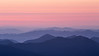 Rainier, Sunrise - Distant hills and haze at sunset with color bands