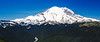 Rainier, Crystal - Mount Rainier and White River Valley on a clear day