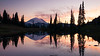 Rainier, Tipsoo - Colorful sunset at Upper Tipsoo Lake