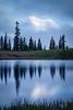 Rainier, Sunrise - Rainier making a brief appearance reflected in Tipsoo Lake at dawn