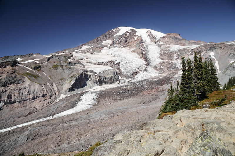 Rainier, Paradise - Nisqually Glacier as seen from the overlook near the visitor center
