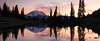 Rainier, Tipsoo - Colorful sunset at Upper Tipsoo Lake, panoramic