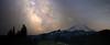 Rainier, Tipsoo - Milky Way as seen from above Tipsoo Lake