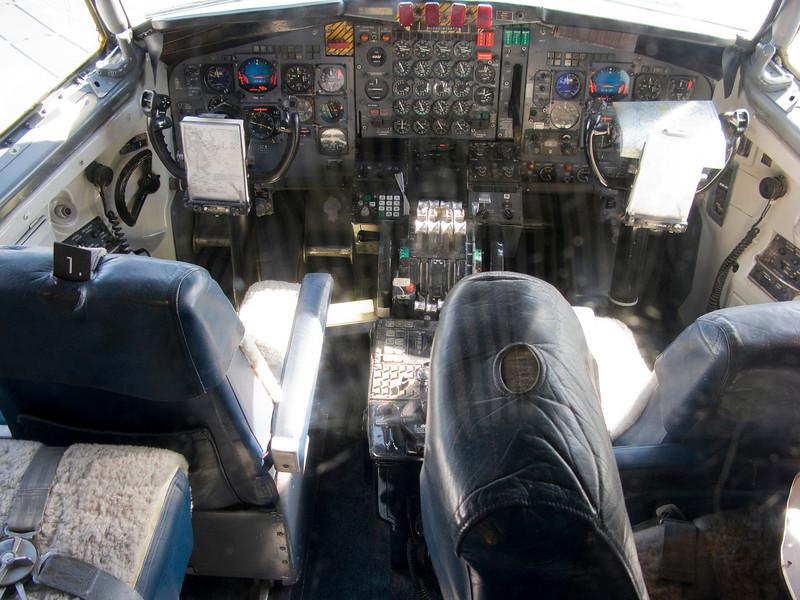 The 707 cokpit.