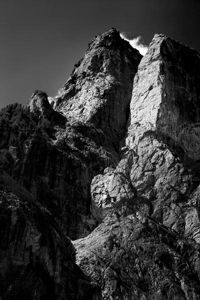 Wild Sky, Barclay Lake - Ridges on Barclay Mountain, black and white