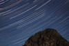 Snoqualmie Pass, Guye Peak - Star trails over Guye Peak during a full moon