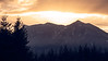 North Bend, Snoqualmie Point Park - Orange sunrise over Mt. Washington