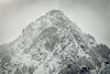Snoqualmie Pass, PCT South - Guye Peak in a snowstorm telephoto