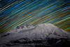 St Helens, Coldwater - Star trails over Mt. St. Helens, winter