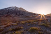 St. Helens, Plains of Abraham - Last sun over ridge beneath Mt. St. Helens