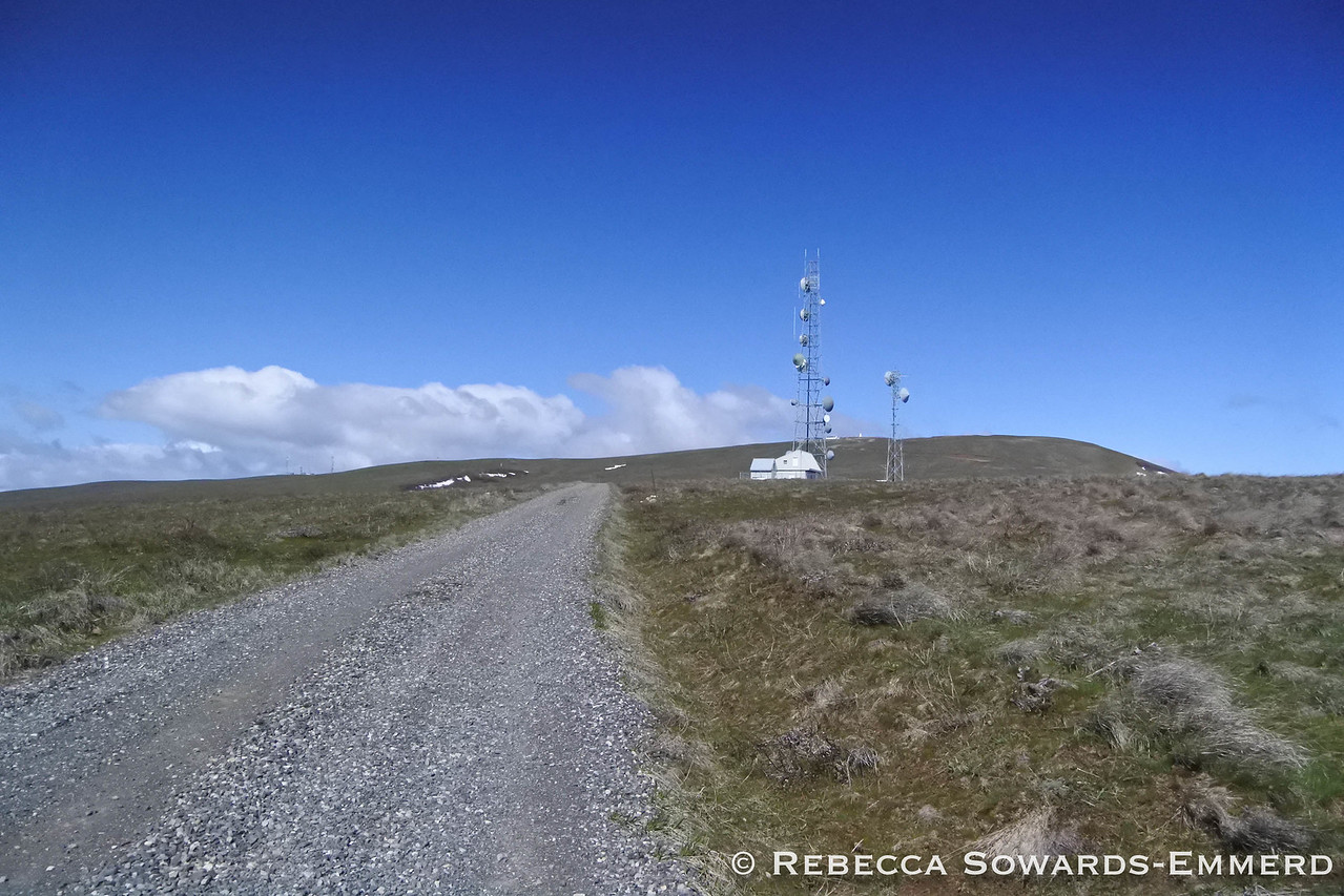 Shortly below the summit you pass a radio tower.