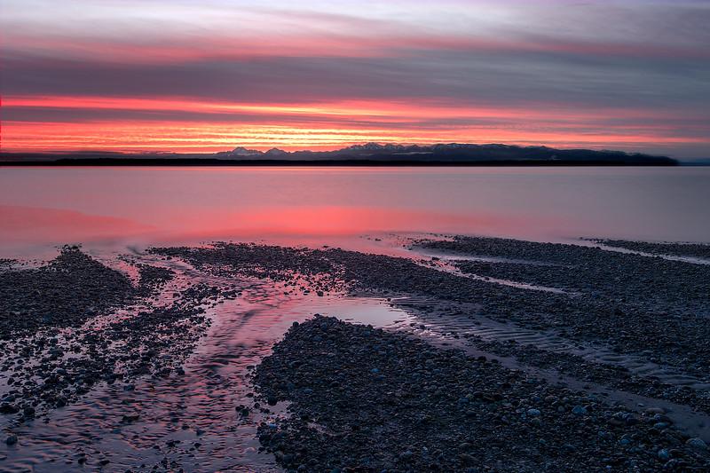 Pink Puget Sound Sunset