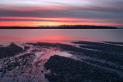 Pink Puget Sound Sunset