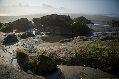 The beach near Kalaloch Lodge where Kalaloch Creek flows into the Pacific Ocean. When at low tide, rocks and tide pools are exposed on the beach in Olympic National Park.  Photo by Kyle Spradley | © Kyle Spradley Photography | www.kspradleyphoto.com
