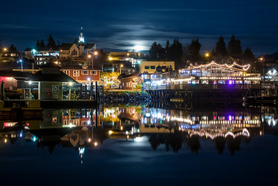 Full Moon Rising Over Poulsbo