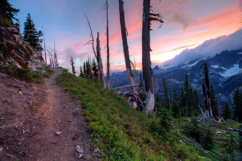 Sunset over the PCT