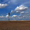 Summer Clouds and Windmill, Lind, WA