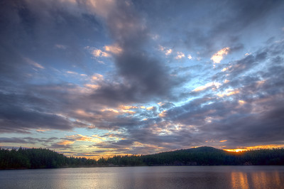 High Island Lake Sunset
