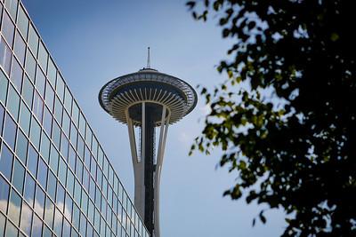 Views from the Space Needle. Seattle. August 2014.  Photo by Kyle Spradley | © Kyle Spradley Photography | www.kspradleyphoto.com